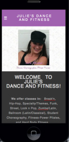 Julie's Dance & Fitness mobile site