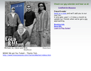 ColdRail Blues Band website before redesign