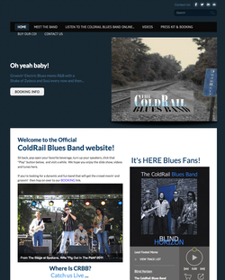 The ColdRail Blues Band official website snapshot